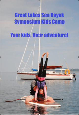 kid's camp at great lakes sea kayak symposium